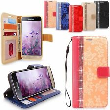 For Samsung Galaxy Note 8 Luxury Bling Wallet Leather Card Slot Flip Case Cover