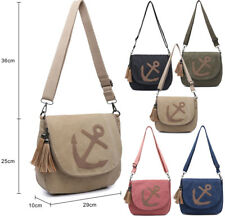 Ladies Canvas Cross Body Messenger Bag Women Shoulder Tote Satchel Handbag