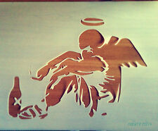 Banksy Fallen Angel reusable STENCIL Wall decor Art Graffiti Airbrush