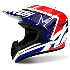 CASCO AIROH CROSS QUAD SWITCH STARTRUCK RED GLOSS MOTORICAMBIPIEMME
