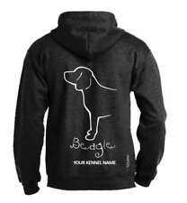 Beagle  Dog Breed Pullover Hoodie  Exclusive Dogeria Design Adult Sizes