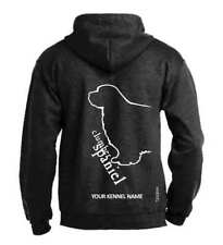 Clumber Spaniel Dog Breed Pullover Hoodie, Exclusive Dogeria Design Adult Sizes