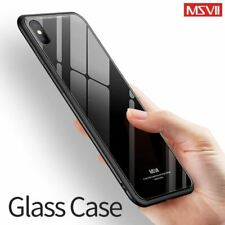 Msvii for iPhone X Glass Case for iPhone X Coque Silicone Shock Proof Luxury Sli