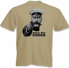 Lord Kitchener Pull My Dedo Hombres Camiseta Divertida WWII GUERRA Póster Fart