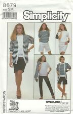 Simplicity 8679 Misses' Pants, Shorts, Skirt, Top and Cardigan   Sewing Pattern