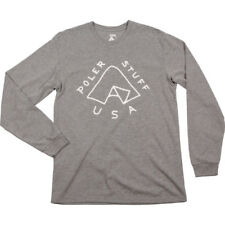 Poler Outdoor Stuff Tent Mens T-shirt Long Sleeve - Grey Heather All Sizes