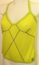 Firetrap women lime green 100% cotton strappy vest summer top size small GGDK24