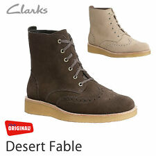 Clarks Mens ORIGINALES Desierto FABLE MARRÓN ANTE TALLA 36 / US 9g