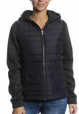 SuperDry GIACCA DONNA SUPERDRY STORM Ibrido Ziphood NERO GRITTY