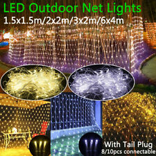 96/880led Little BOMBILLAS LED Malla de Red Cuerda Luz Impermeable Exterior