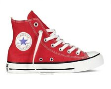 SNEAKERS CONVERSE ALL STAR HI ALTE TELA ROSSO RED UOMO DONNA 36 37 38 39 40 41