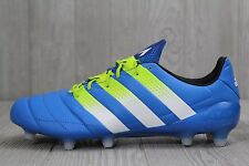 19 New Mens Adidas ACE 16.1 FG/AG Leather AF5098 Blue Football  Soccer Clea
