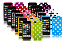 NUOVO A POIS SILICONE TPU Custodia cover sottile per Apple iPhone 5 5S -