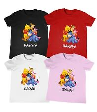Personalised Winnie the Pooh Kids T-Shirt ANYNAME Top Boy Girls Tee Birthday