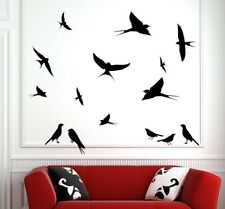 Cute Swallows Large Set Removable Wall Stickers Birds Decal Bird Premium Decor
