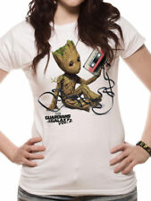 Groot with Tape Fitted T-Shirt Guardians Of The Galaxy Female Fruit Of The Loom