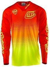 Maillot Motocross Troy Lee Designs 2017 SE Air Starburst Fluorescent Jaune-Orang