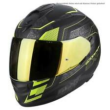 SCORPION EXO-510 AIR ZINCATO CASCO MOTO TOURING - NERO OPACO Neon Gel