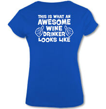 This Is What an Awesome Vino bebedor Looks Like - Mujer Camiseta Graciosa