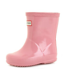Hunter Kids First Gloss Panther Pink Wellington Boots Wellies Size