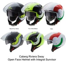 Caberg Riviera Sway Open face Jet Motorcycle Scooter Helmet Integral Sun Visor