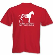 I Wasn't COMO Hambrienta As FIRST PENSAMIENTO - Hombres Camiseta Divertida Horse
