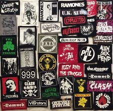 PUNK ROCK BAND PATCHES EXPLOITED SEX PISTOLS CLASH RAMONES STOGES PIL DIVISION