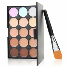 15 colori Concealer Eyeshadow Contour Palette Brush Sponge Face Makeup Set FFG