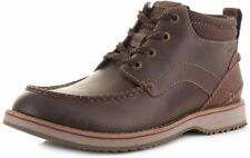 CLARKS UOMO INTELLIGENTE Mahale medio marrone scuro OLIATO Nubuck UK 7,7 .5,