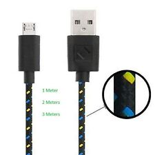 Black Braided USB Data Charger Cable for Nokia 10 Nokia 8 Nokia 6 Nokia 5