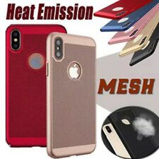 Thin Hollow Mesh Heat Dissipation PC Hard Case Cover for iPhone X 8 8 Plus