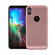 Rose Gold Slim Hollow Mesh Heat Dissipation PC Hard Case for iPhone X 8 8 Plus