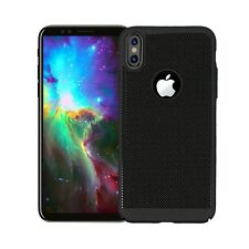 Black Slim Hollow Mesh Heat Dissipation PC Hard Case for iPhone X 8 8 Plus