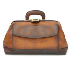 Pratesi borsa medico in pelle con manico italian leather doctor bag professional