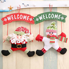 1Pc Santa Claus Door Hanging Christmas Tree Home Decor Ornaments Xmas Hot tpss