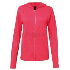 Anvil Womens Triblend Full-Zip Hoodie Hooded Jacket
