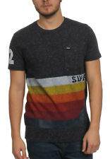 Superdry T-Shirt Men BIG MOUNTAIN LINE TEE Ravine Blue Snowy