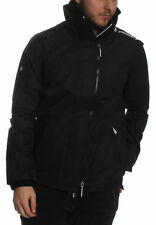 SUPERDY Chaqueta De Hombres Technical POP Cremallera Corta Vientos Black Optic