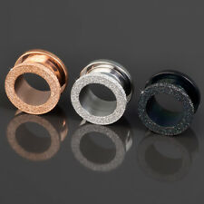 6-14mm Flesh Tunnel PLUG ACERO Brillante Rosa Dorado Acero inox. Z8