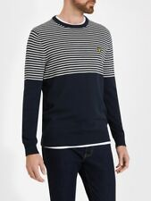 Lyle And Scott Mens Knitwear KN807V KN807V Half Breton Jumper   Navy