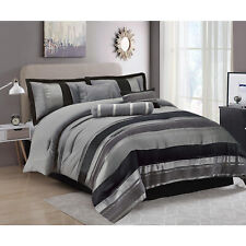 Luxury Jacquard 7 Piece Quilted Bedspread Comforter Set and Matching Curtains