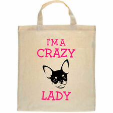 Chihuahua Dog Personalised Tote Shopper Bag I'm a Crazy Chihuahua Lady