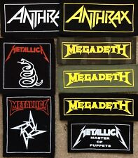 METALLICA ANTHRAX MEGADETH patches old school metal punk hard core thrash heavy
