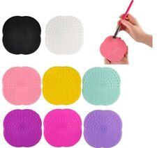 Cosmetic Silicone Scrubber Board Mat Pad Makeup Brush Cleaner