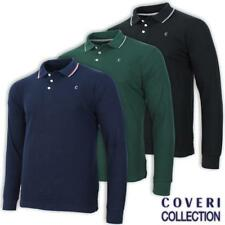 Polo uomo manica lunga 100% cotone piquet profili sul colletto COVERI COLLECTION
