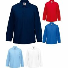 enfants Fruit of the loom manches longues polyester col polo