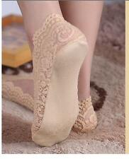 New Womens Cotton Blend Lace Antiskid Invisible Low Cut Socks Toe Ankle Sock Hot