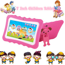 "7"" Quad Core Tablet for Kids Google Android 4.4 8GB Dual Camera Children LOT JZ"