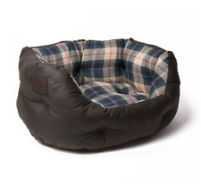 Brand New Comfortable Genuine Barbour For Land Rover Wax/Tartan Durable Dog Bed