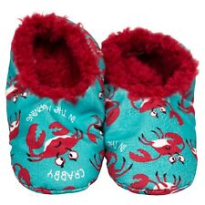 LazyOne Crabby in the Morning Fuzzy Feet Slippers Adult